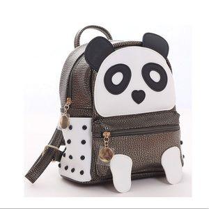 Handbags - Girls Fashion Panda Book Bag Rivet Backpack